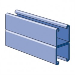 Atkore - P1001-10PG - Unistrut P1001-10PG Channel - No Holes, Back-to-Back, 3-1/4 x 1-5/8 x 10', Steel