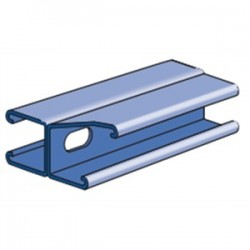 Atkore - P1001T10PG - Unistrut P1001T10PG Slotted Channel, Back to Back, 3 1/4Hx1 5/8Wx10'L