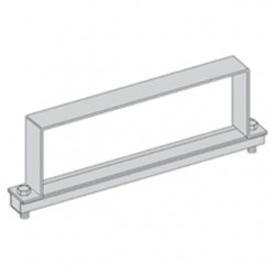 Eaton Electrical - 9A-12-9064 - Cooper B-Line 9A-12-9064 Cable Tray Heavy Duty Cover Clamp, 12 Width, 6 High, Aluminum