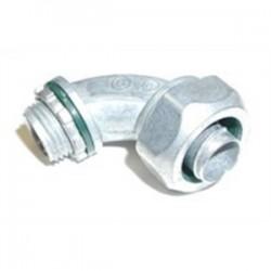 Bridgeport Fittings - 470-LT2 - Bridgeport Fittings 470-LT2 Liquidtight Connector, 90, 1/2, Non-Metallic