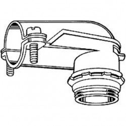 Hubbell - 2692 - Hubbell-Raco 2692 AC/Flex Connector, 1/2, 90, 2-Screw Clamp, Zinc Die Cast