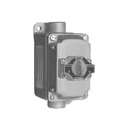 Appleton Electric - EFDCB175102 - 1NO/1NC Selector Switch Control Station, 1 Gang, Contact Rating: 10A @ 600VAC