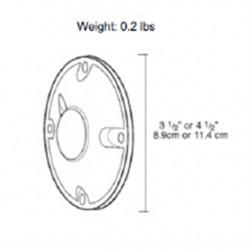 RAB Lighting - XC2A - RAB XC2A Weatherproof Round Cover, (1) 1/2, Diameter: 4, Aluminum