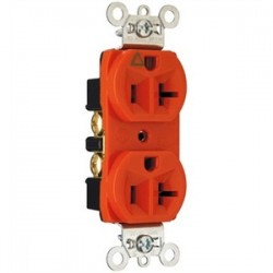 Pass & Seymour - IG5362-RED - Pass & Seymour IG5362-RED Single IG Receptacle, 20A, 125V, Red, 5-20R