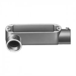Bridgeport Fittings - LR-32 - Bridgeport Fittings LR-32 Conduit Body, Type: LR, Size: 3/4, Type: Set Screw, Aluminum