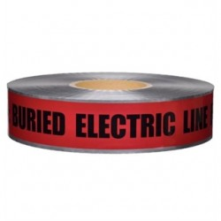 L.H. Dottie - DU01 - Dottie DU01 Detectable Barricade Tape, Buried Electric Line Below, 3 x 1000', Red