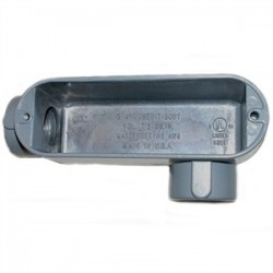 Mulberry Metal - 11814 - Mulberry Metal 11814 1-1/4, Type LL, Die-Cast Aluminum Conduit Body