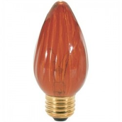Satco - 40F15/A - Satco 40F15/A Incandescent Lamp, F15, 40W, 120V, Amber