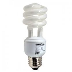 Damar - 25508B - Damar 25508B Compact Fluorescent Lamp, Mini-Spiral, 13W, 4100K