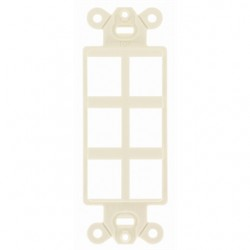 Hubbell - ISF6EI - Hubbell-Premise ISF6EI Multimedia Outlet System Insert, Decora Insert, 6 Port, Ivory