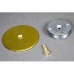 Wiremold / Legrand - 1046B - Wiremold 1046B Blanking Top Plate, Diameter: 3-1/2, For use with: 1-1/4 IPS, Brass
