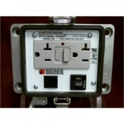 Grace Engineered - P-Q17-K3RF3 - Grace Engineered Products P-Q17-K3RF3 Programming Port, RJ45, Female to Female, GFCI Outlet, 3A Breaker