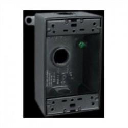 RAB Lighting - B3B - RAB B3B Weatherproof Outlet Box, 1-Gang, 2 Deep, (3) 1/2 Hubs, Aluminum