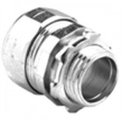 Bridgeport Fittings - 250-US - Bridgeport Fittings 250-US EMT Compression Connector, 1/2, Steel