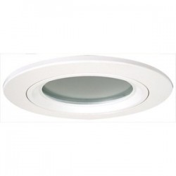 Elco Lighting - EL2612W - Elco Lighting EL2612W 8 Die Cast Trim with Lens, White with Frosted Lens