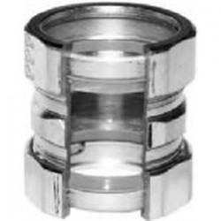 American Fittings - EC763USRT - American Fittings Corp EC763USRT EMT Compression Coupling, Raintight, Size: 1-1/4, Steel/Zinc