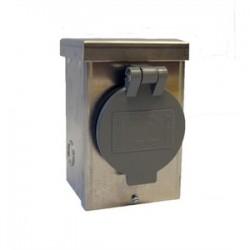 Generac - 1430V - Generac 1430V Inlet Box, 30A, 120/240VAC, NEMA L14-30P, Steel, NEMA 3R, Flip Lid