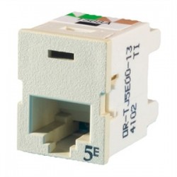 Ortronics - OR-TJ5E00-13 - Ortronics OR-TJ5E00-13 Ivory Category 5e Snap in Connector, TracJack
