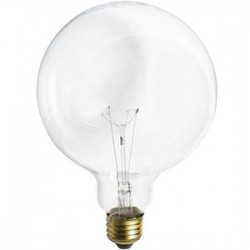 Satco - 40G40 - Satco 40G40 Incandescent Bulb, G40, 40W, 120V, Clear