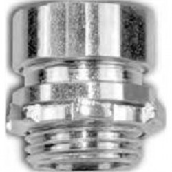 American Fittings - EC750BUS - American Fittings Corp EC750BUS EMT Compression Connector, 1/2 inch, Insulated, Concrete Tight, Steel