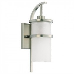 Sea Gull Lighting - 88117-962 - Sea Gull 88117-962 1l Wall Outdoor Brushed Nickel