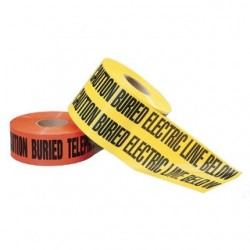 IDEAL Electrical / IDEAL Industries - 42-151 - Ideal 42-151 Non-Detectable Underground Caution Tape, 6 x 1000', Red