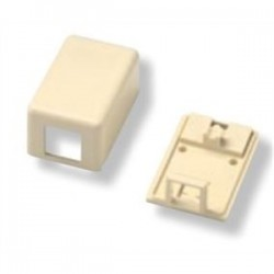 TE Connectivity - 1-1116697-1 - Tyco Electronics 1-1116697-1 Modular Jack Box, 1-Port, Electrical Ivory, Surface Mount