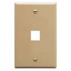 ICC - 107F01WH - ICC 107F01WH Wallplate, 1-Port, 1-Gang, Keystone, Rear Load, Flush, White