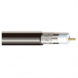 Coleman Cable - 92008-06-08 - Coleman Cable 920080608 Coax Cable, CMR, RG6/U, 18 AWG, Black, CM/CL2/CATV, 1000'
