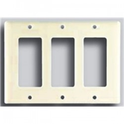 Cooper Wiring Devices - 2163LA-BOX - Cooper Wiring Devices 2163LA-BOX Decora Wallplate, 3-Gang, Thermoset, Light Almond