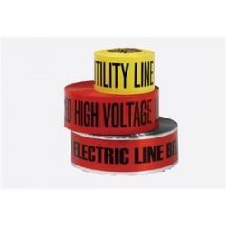 Bizline - 84148 - Bizline 84148 Underground Tape, Caution Buried Electric Line Below, Red
