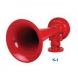 Edwards Signaling - K-1 - Edwards K-1 Air Horn, 311Hz, 114dB @ 10', Color: Red, Material: Aluminum