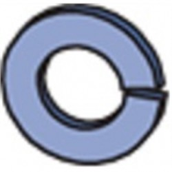 Atkore - HLKW050-EG - Unistrut HLKW050-EG Split Lock Washer, Steel, Electro-Galvanized, 1/2