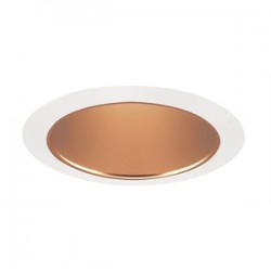 Acuity Brands Lighting - 206WHZ-WH - Juno Lighting 206WHZ-WH Cone Trim, Deep, 5, BR30/PAR30, Wheat Haze Reflector/White Ring
