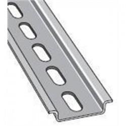 ABB - 010150804 - ABB Entrelec 010150804 DIN Rail, Slotted, Zinc Plated Steel, 35mm x 7.5mm x 1m