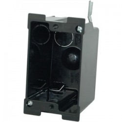 Allied Moulded - P-116OW - Allied Moulded P-116OW Switch/Outlet Box, 1-Gang, 2-5/8 Deep, New/Old Work, Non-Metallic