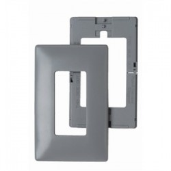 Pass & Seymour - SWP26-GRY - Pass & Seymour SWP26-GRY Wallplate, 1-Gang, Decora, Polycarbonate, Gray