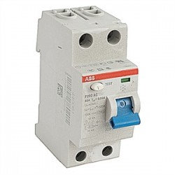 ABB - F202AC-63/0.03 - ABB F202AC-63/0.03 Breaker, DIN Rail Mount, Ground Fault, Residual Current, 30mA, 63A
