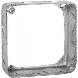 Hubbell - 202 - Extension Ring, Galvanized Steel, 1-1/2 Nominal Depth, 4 Nominal Width, 4 Nominal Length