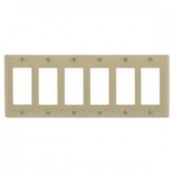 Hubbell - SS266 - Hubbell-Kellems SS266 Decorator Style Wallplate, 6-Gang, 6-Decorator