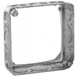 Hubbell - 203 - Extension Ring, Galvanized Steel, 1-1/2 Nominal Depth, 4 Nominal Width, 4 Nominal Length