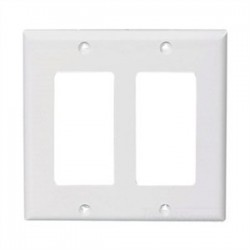 Cooper Wiring Devices - 5152W-BOX - Cooper Wiring Devices 5152W-BOX Decora/GFCI Wallplate, 2-Gang, Nylon, White, Standard Size