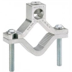 Ilsco - AGC-4 - Ilsco AGC-4 Water Pipe Ground Clamp, 2-1/2 to 4, 6 AWG to 250 MCM, Aluminum