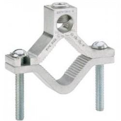 Ilsco - AGC-4 - Ilsco AGC-4 Water Pipe Ground Clamp, 2-1/2 to 4, 6 AWG to 250 MCM, Aluminum