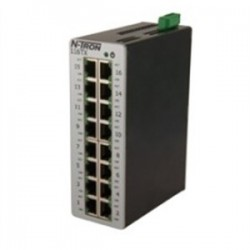 Red Lion Controls - 116TX - 116TX - N-Tron 16 port 10/100BaseTX Industrial Ethernet Switch, DIN-Rail, 10-49VDC