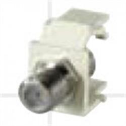 BizLine - CMODFIVY - Bizline CMODFIVY F-Type Keytstone Connector Module, Light Ivory