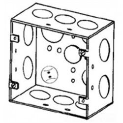 Appleton Electric - 4SJD-3/4 - Appleton 4SJD-3/4 4 Square Box, Welded, Metallic, 2-1/8 Deep
