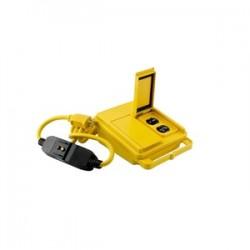 Coleman Cable - 028168802 - Coleman Cable 028168802 GFCI Quad Box, 20A, 120V, 6' Cord, Yellow