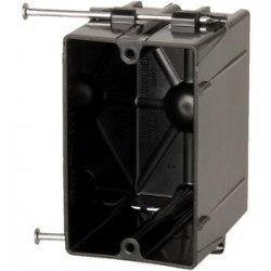 Allied Moulded - P-201QT - Allied Moulded P-201QT Switch/Outlet Box, 1-Gang, Depth: 3-1/16, Nail-On, Non-Metallic