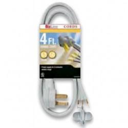 BizLine - DR103GY304FT - Bizline DR103GY304FT Dryer Cord, 30A, 125/250V, 4', Gray, 3-Wire